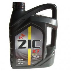 Масло ZIC X7 LS 10W40 SM/CF (6л) синт.